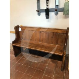 Solid Pitch Pine Pew   Cawarden Reclaim