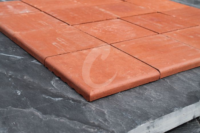 New Red Quarry Tiles (Double Bullnose) 6x6