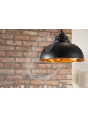 BLACK & HAMMERED COPPER HARBORNE PENDANT