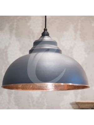 DARK GREY & HAMMERED COPPER HARBORNE PENDANT