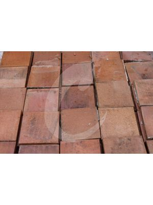 Reclaimed 7.75 x 7.75 Quarry Tile - Heather Brown 25mm Thick