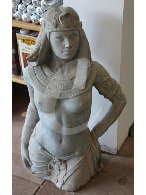 Reproduction Garden Statue - Cleopatra Grey/Blue