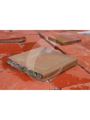 Reclaimed Heather Brown Quarry Tile - Bullnose 7.75 x 7.75 inch