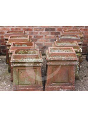 Reclaimed Rectangular Chimney Pot - Terracotta Red *SET OF 8*